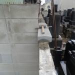 高崎市の寺院墓地にてブロック塀を直しました。