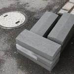 群馬県高崎市九蔵町のお寺様でブロック塀を直します。