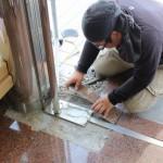安中市にて建築貼り石工事です。