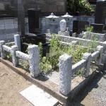玉村町で貼石工事(お墓のリフォーム)のお見積りです。