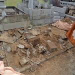 群馬県藤岡市の常光寺様にて、お墓の解体工事です。(後半)