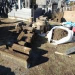 高崎市新保田中町にて、お墓の改修(リフォーム工)工事です。