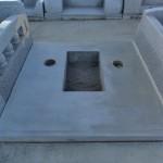 今日は、群馬県北群馬郡吉岡町の、よしおか墓苑にて新規墓石工事です。