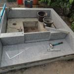 今日は、高崎市下佐野にあります光雲寺様にてお墓の耐震施工です。