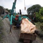 今日は、高崎市箕郷町でお墓じまい工事、最終日です。