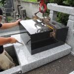 今日は、群馬県吾妻郡にて墓石工事です。