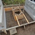 今日は、沼田市屋形原町でお墓の基礎工事です。