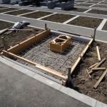 今日は、高崎市八幡霊園の9種にて、お墓の基礎工事です。
