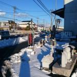 高崎市の石材店です。今日も雪と格闘しております。