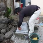 前橋市本町にて 石宮 氏神 お稲荷様の建て替えをしました。