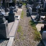 お墓の追加戒名彫り(文字彫刻、文字彫り)の打ち合わせで前橋市元総社町と高崎市足門町へ、その後、安中市へ作業に行ってきました。