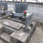 高崎市下斉田町でお墓じまい(お墓解体)作業をしています。