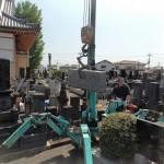 お墓にリフォームを高崎市倉賀野町にて施工中です。