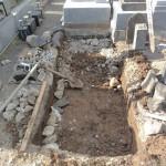 高崎市にてお墓の基礎工事をしました。