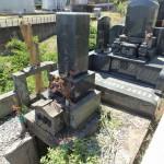群馬県渋川市のお寺様にてお墓じまい、お墓解体工事が終わりました。