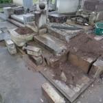 高崎市棟高町の大乗寺にて、お墓の基礎工事をしています。