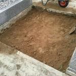 吉岡町のよしおか墓苑にて基礎工事です。