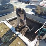 今日は、高崎市八幡霊園の新区画である9種墓所にてお墓の工事です。