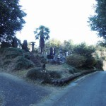 高崎市箕郷町にて、お墓の追加戒名彫り工事の下見です。