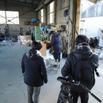 今日は、NHK前橋支局の皆さまが、取材に事務所に来店されました。