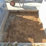 今日は、吉岡町のよしおか墓苑にて新規墓石工事です。