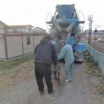 今日は、群馬県北群馬郡吉岡町にてお墓の基礎工事です。