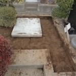 今日は前橋市営の嶺公園墓地にて、新規墓石工事です。