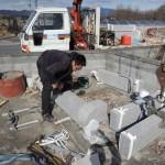 今日は安中市にて、永代供養墓の工事です。