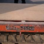 高崎市の天翔堂です、今日は石材運搬車を修理しています。