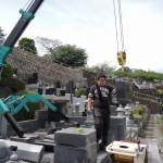 今日は高崎市箕郷町の長純寺様にて、お墓じまい工事です。