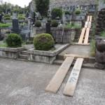 今日は、群馬県高崎市箕郷町富岡にあります、長純寺様にてお墓の解体工事(お墓じまい)です。