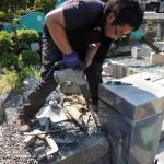今日は、群馬県高崎市箕郷町の長純寺様にてお墓の解体工事です。