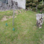 今日は、 群馬県吾妻郡東吾妻町にて、お墓を作る為の土葬掘り作業です。