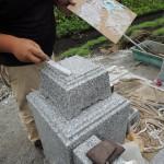 今日は、群馬県吾妻郡で和型墓石の工事です。
