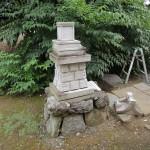 今日は、埼玉県児玉郡上里町にて氏神様(石宮)の修繕です。