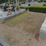 高崎市営八幡霊園2種、様式にて南アフリカ産洋型墓石、緑色で模様の綺麗なお墓が完成しました。