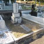群馬県伊勢崎市下触町の石山霊園にて、お墓じまい(お墓の解体工事)です。