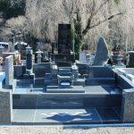富岡市営霊園にて、新規墓石工事と旧墓石の移動工事をさせていただきました。