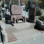 高崎市下室田の大福寺様にて、春を感じさせる可愛い洋型のお墓が完成しました。